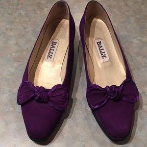 Bally purple suede flats